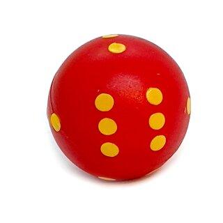 Runde Würfel bunt mit Punkten Rot - Gelb