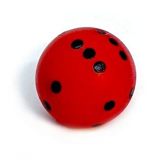 Runde Würfel bunt mit Punkten Rot - Schwarz