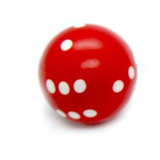 Runde Würfel bunt mit Punkten Rot - Weiß