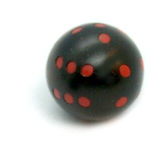 Runde Würfel bunt mit Punkten Schwarz - Rot