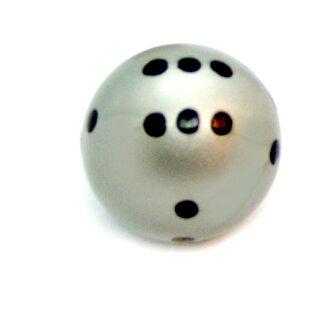Runde Würfel bunt mit Punkten Silber - Schwarz