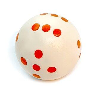 Runde Würfel bunt mit Punkten Weiß - Orange