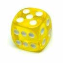 Transparent-Gelb W6 Würfel 16mm mit Punkten