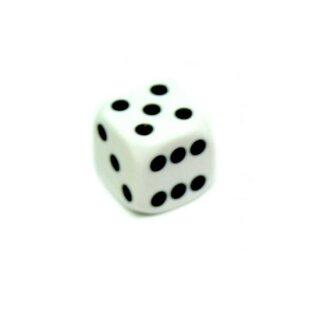 Bunte W6 Würfel 12mm mit Punkten Weiß