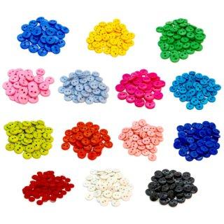 50 Knöpfe 9mm in verschiedenen Farben 2-Loch