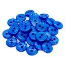 50 Knöpfe 9mm in Mittelblau 2-Loch