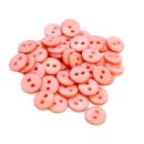 50 Knöpfe 9mm in Schweinchen- Rosa 2-Loch