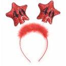 Haar-Reifen zum Geburtstag 18 - 50 mit farbigen Sternen