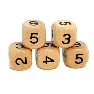 Holzwürfel mit Zahlen 16mm W6