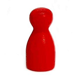 Pöppel Spielfiguren aus Holz Rot