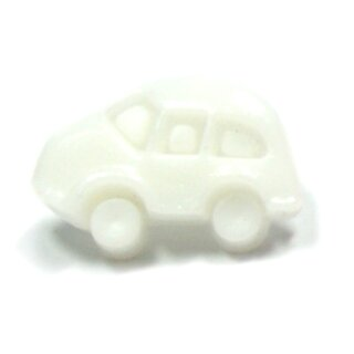 Auto Knöpfe in Weiß-Weiß 11 x 17mm