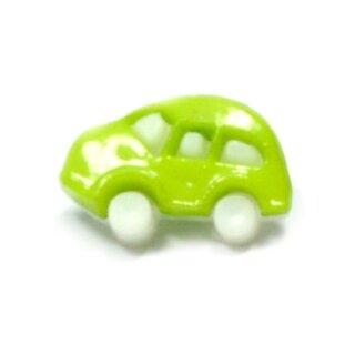 Auto Knöpfe in Weiß-Hell-Grün 11 x 17mm