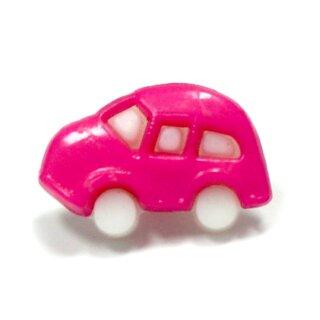 10 Auto Knöpfe in Weiß-Pink 11 x 17mm