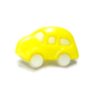 10 Auto Knöpfe in Weiß-Hell-Gelb 11 x 17mm