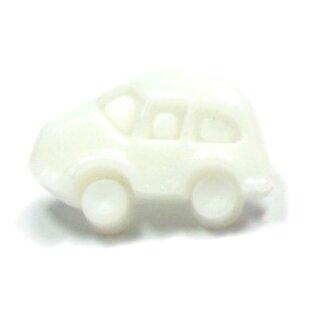 10 Auto Knöpfe in Weiß-Weiß 11 x 17mm