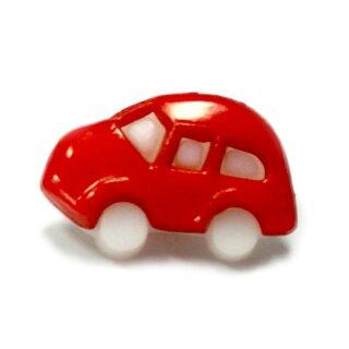 10 Auto Knöpfe in Weiß-Rot 11 x 17mm