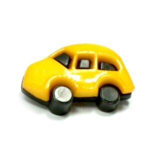 Auto Knöpfe in Schwarz-Dotter-Gelb 16 x 24mm