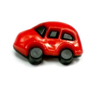 Auto Knöpfe in Schwarz-Rot 16 x 24mm