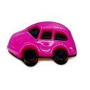 6 Auto Knöpfe in Schwarz-Pink 16 x 24mm