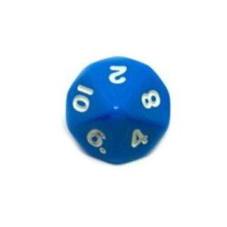 10-Seitige Würfel Blau mit Zahlen 1-10 W10