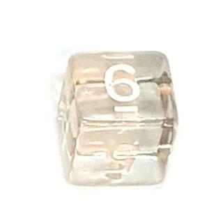 6 Würfel Klar-Transparent Set Zahlen Gerade Kanten 15mm