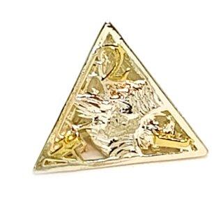 4 Seitiger Metall-Würfel Hohl Adler Silber-Goldfarben Zahlen