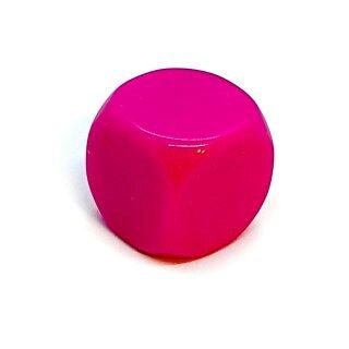 Blanko-Würfel Pink mit runden Ecken W6