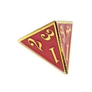 4 Seitiger Metall-Würfel Gold-Rot Zahlen