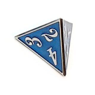 4 Seitiger Metall-Würfel Silber-Blau Zahlen