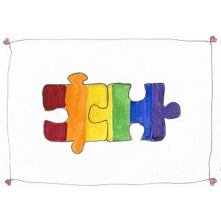 Kathl´s LGBT-Postkarte in vielen Varianten 10 x 15cm
