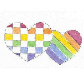 Kathl´s LGBT-Postkarte Doppelherz 10 x 15cm