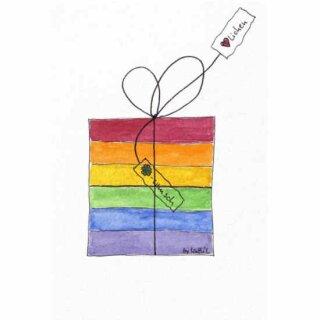 Kathl´s LGBT-Postkarte Geschenk hoch 10 x 15cm