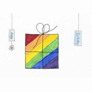 Kathl´s LGBT-Postkarte Geschenk quer 10 x 15cm