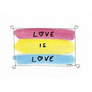 Kathl´s LGBT-Postkarte Pan Love 10 x 15cm