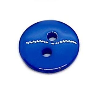 Runde Knöpfe 11mm Mittelblau 2-Loch