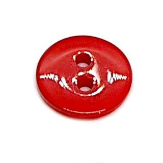 Runde Knöpfe 11mm Rot 2-Loch