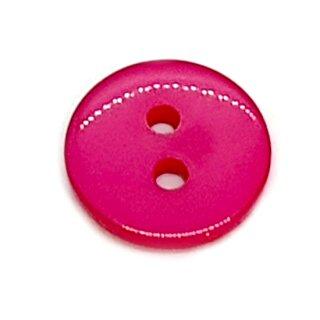 Runde Knöpfe 11mm Pink 2-Loch