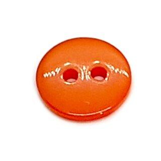 Runde Knöpfe 11mm Orange 2-Loch