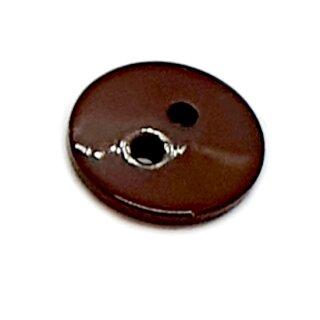 Runde Knöpfe 11mm Braun 2-Loch