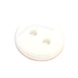 Runde Knöpfe 11mm Weiß 2-Loch
