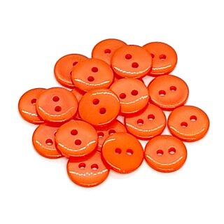 20 Runde Knöpfe 11mm Orange 2-Loch