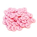 50 Runde Knöpfe 11mm Rosa 2-Loch