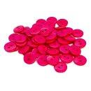 50 Runde Knöpfe 11mm Pink 2-Loch