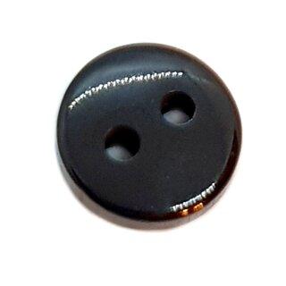 2-Loch-Knöpfe 9mm in Schwarz