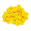 50 Knöpfe 9mm in Gelb 2-Loch