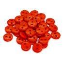 50 Knöpfe 9mm in Orange 2-Loch