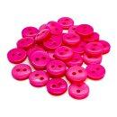 50 Knöpfe 9mm in Pink 2-Loch