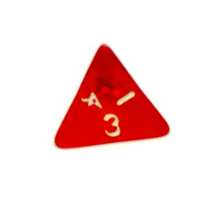 4 Seitige Rot-Transparente Würfel Zahlen W4