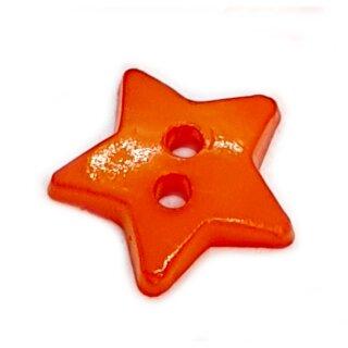 Stern- Knöpfe 12mm Orange 2-Loch