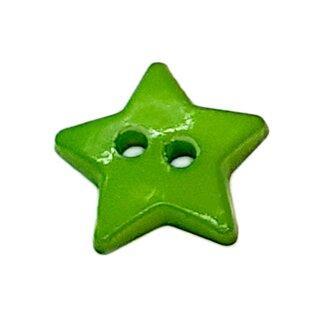 Stern- Knöpfe 12mm Grün 2-Loch